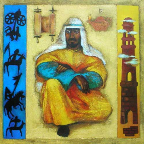 """The Cost of Being a Disciple"" by Kazakhstan Artist Nelly Bube."