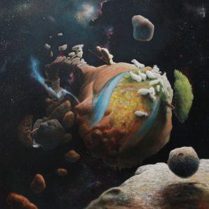 """Lost Sheep,"" painting, KMOV Studios, 2013"