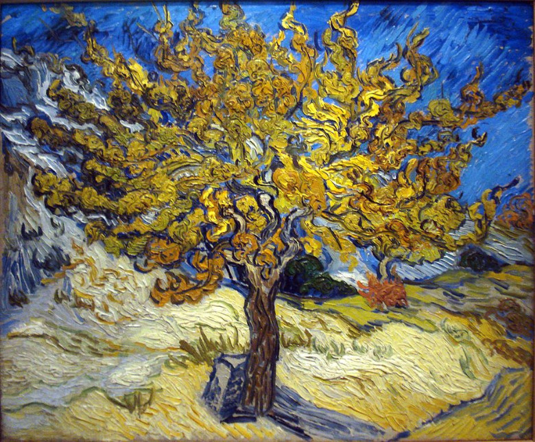 """The Mulberry Tree"" Vincent Van Gogh, 1889"